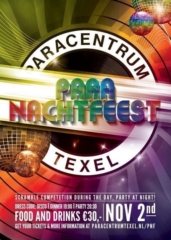 Paranachtfeest Paracentrum Texel 2019 poster